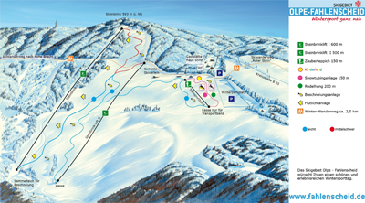 Plattegrond skibanen