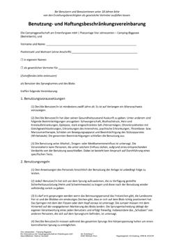 Haftungsvereinbarung